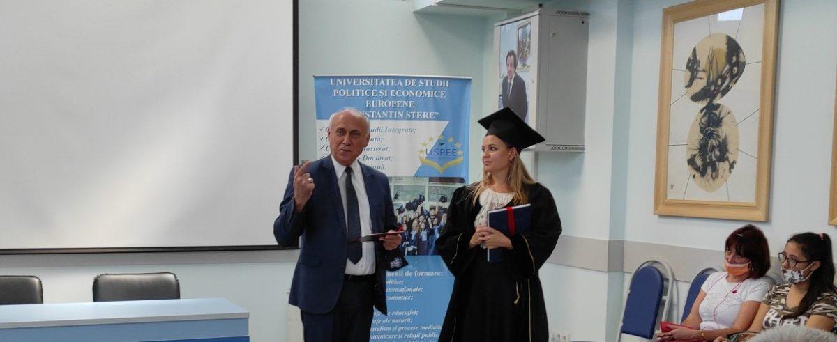 Înmânarea diplomelor de doctor